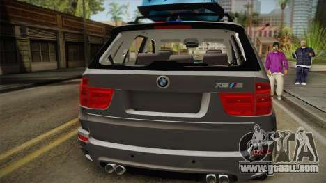 BMW X5M 2012 Special for GTA San Andreas back view