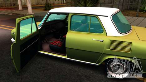 Skoda 100 for GTA San Andreas inner view