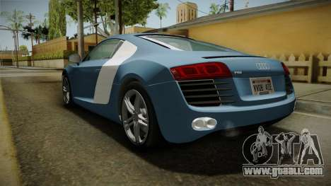 Audi R8 Coupe 4.2 FSI quattro EU-Spec 2008 YCH for GTA San Andreas back left view