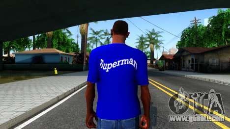 T-Shirt SuperMan for GTA San Andreas third screenshot
