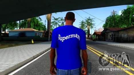 T-Shirt SuperMan for GTA San Andreas third screenshot