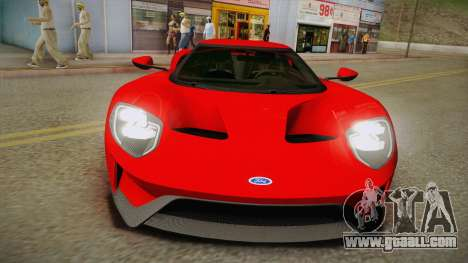 Ford GT 2017 No Stripe for GTA San Andreas right view