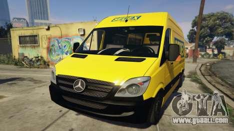 CORREIOS Sedex Mercedes Sprinter for GTA 5