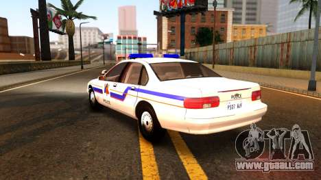 Chevy Caprice Hometown Police 1996 for GTA San Andreas back left view