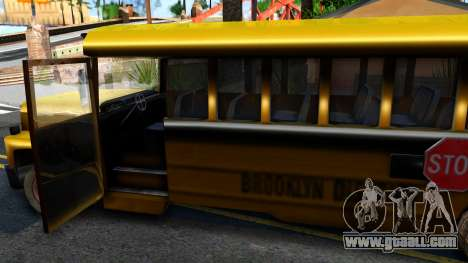 School Bus Driver Parallel Lines for GTA San Andreas inner view