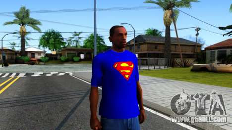 T-Shirt SuperMan for GTA San Andreas second screenshot