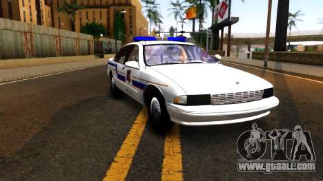 Chevy Caprice Hometown Police 1996 for GTA San Andreas back view