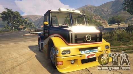 GTA 5 Ftruck Mercedes L Series v2 back view