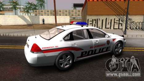 Chevy Impala Blueberry PD 2009 for GTA San Andreas left view