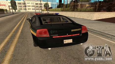 Dodge Charger County Sheriff for GTA San Andreas right view