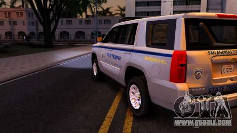 2015 Chevy Tahoe San Andreas State Trooper for GTA San Andreas side view