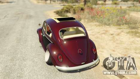 GTA 5 Volkswagen Beetle rear left side view