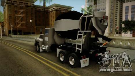 Realistic Cement Truck for GTA San Andreas