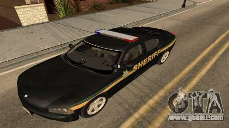 Dodge Charger County Sheriff for GTA San Andreas back left view