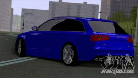 AUDI RS6 2014 for GTA San Andreas