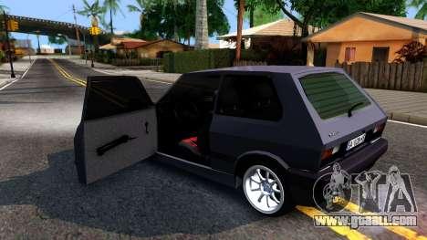 Yugo Koral 45 Sport Tuning for GTA San Andreas inner view