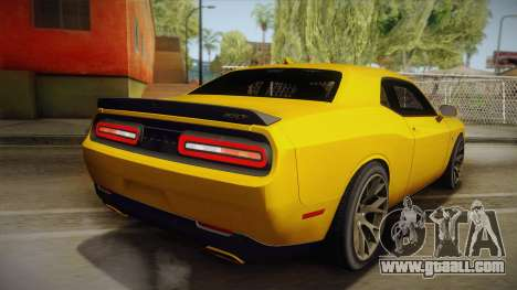 Dodge Challenger Hellcat 2015 for GTA San Andreas left view