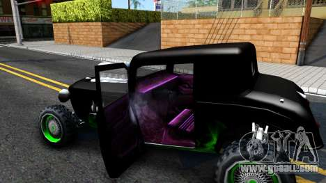 Green Flame Hotknife Race Car for GTA San Andreas inner view