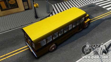 School Bus Driver Parallel Lines for GTA San Andreas back view