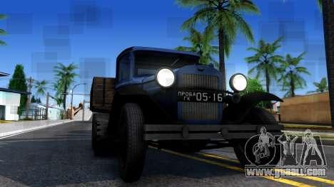 1940 GAZ-65 for GTA San Andreas inner view