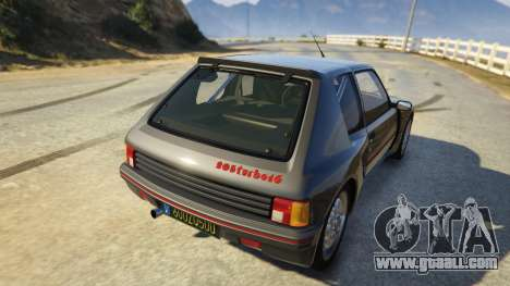 GTA 5 Peugeot 205 Rally rear left side view