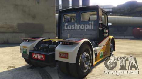 GTA 5 Ftruck Mercedes L Series v2 rear left side view