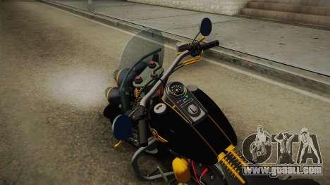 Harley-Davidson Fat Boy Lo Vintage 1992 v1.1 for GTA San Andreas back left view
