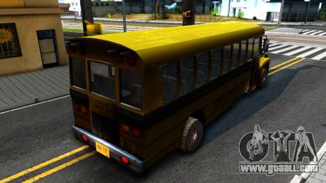 School Bus Driver Parallel Lines for GTA San Andreas back left view