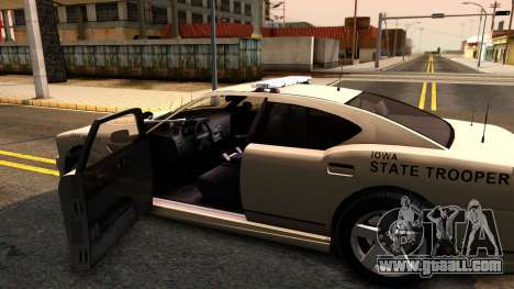 Bravado Buffalo 2012 Iowa State Patrol for GTA San Andreas inner view