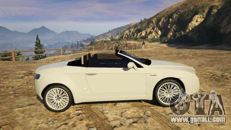 GTA 5 Alfa Romeo Spider 939 (Brera) rear left side view