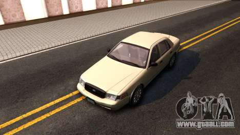 Ford Crown Victoria Unmarked 2009 for GTA San Andreas back view