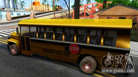 School Bus Driver Parallel Lines for GTA San Andreas left view