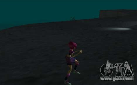Tecna Rock Outfit from Winx Club Rockstars for GTA San Andreas forth screenshot