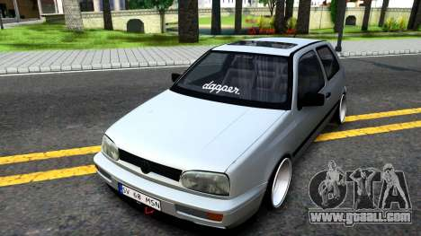 Volkswagen Golf 3 Low for GTA San Andreas back left view