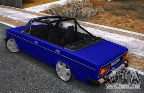 VAZ 2106 KBR for GTA San Andreas back left view