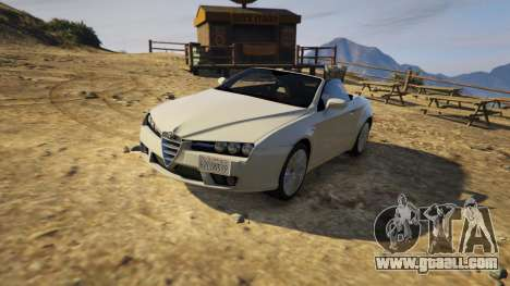 GTA 5 Alfa Romeo Spider 939 (Brera) left side view