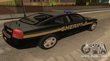 Dodge Charger County Sheriff for GTA San Andreas left view