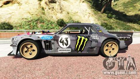 GTA 5 Ford Mustang 1965 Hoonicorn v1.3 drift [add-on] left side view