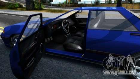 GTA V Zirconium Stratum Sedan for GTA San Andreas inner view