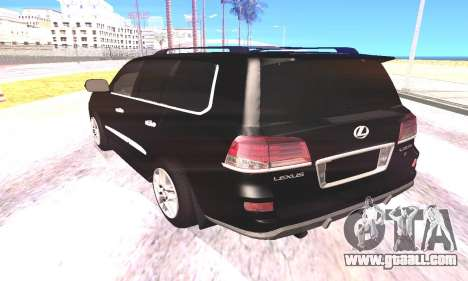 Lexus LX570 for GTA San Andreas back left view