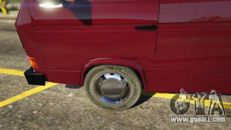 GTA 5 Volkswagen Transporter T3 (1979) back view