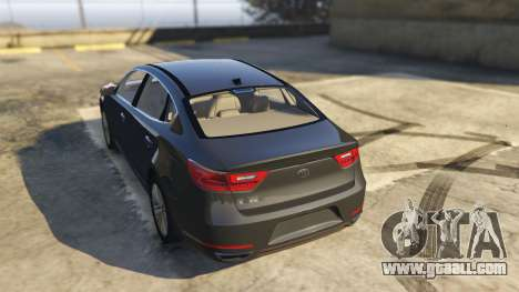 GTA 5 Kia Cadenza 2017 rear left side view