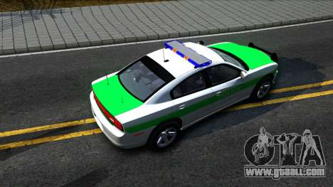 Dodge Charger German Police 2013 for GTA San Andreas back view
