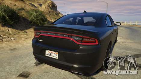 GTA 5 Dodge Charger 2016 rear left side view