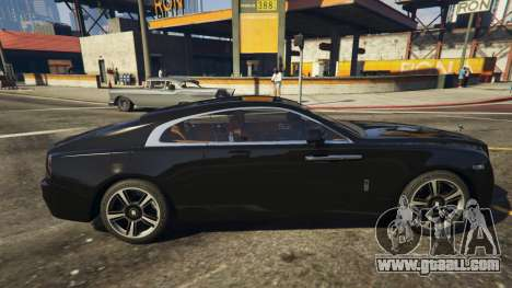 GTA 5 Rolls-Royce Wraith 2015 left side view