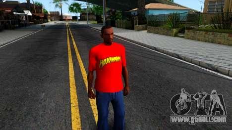 Hulk Hogan T-Shirt for GTA San Andreas second screenshot