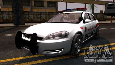 Chevy Impala Blueberry PD 2009 for GTA San Andreas