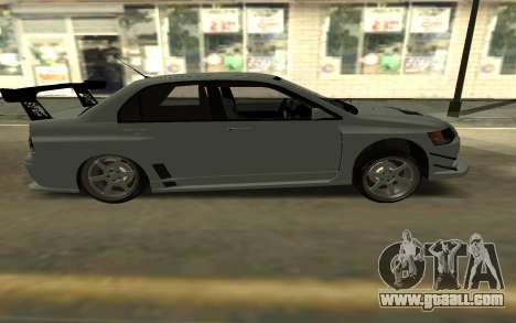 Mitsubishi Lancer Evo9 for GTA San Andreas back left view