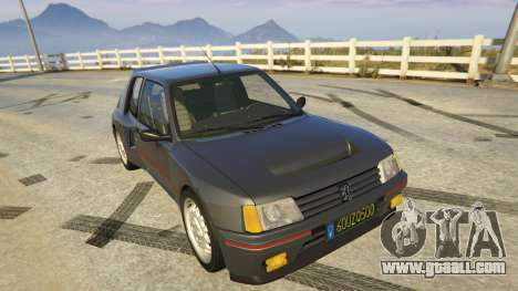 GTA 5 Peugeot 205 Rally back view