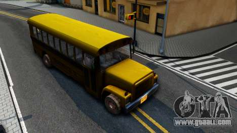 School Bus Driver Parallel Lines for GTA San Andreas right view